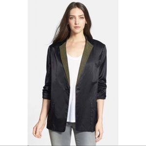 Marc by Marc Jacobs Black Studded Satin Jacket